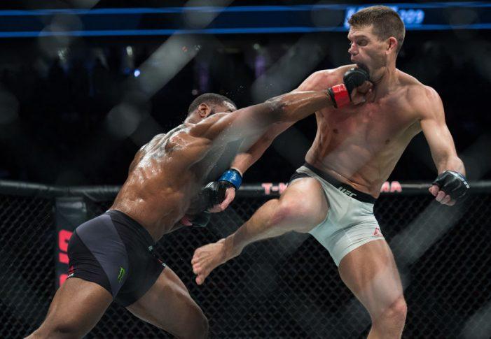 UFC 209:タイロン・ウッドリー vs. スティーブン・トンプソン【アメリカ・ネバダ州ラスベガス/2017年3月4日(Photo by Brandon Magnus/Zuffa LLC/Zuffa LLC via Getty Images)】
