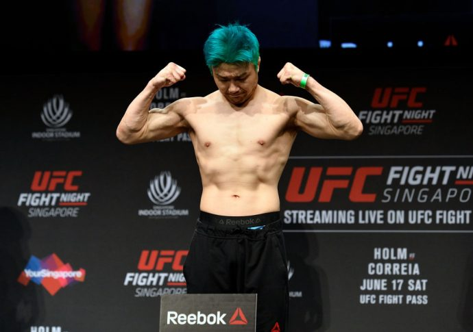 UFCファイトナイト・シンガポール:公式計量セレモニーに登場した五味隆典【シンガポール・カラン/2017年6月16日(Photo by Brandon Magnus/Zuffa LLC/Zuffa LLC via Getty Images)】