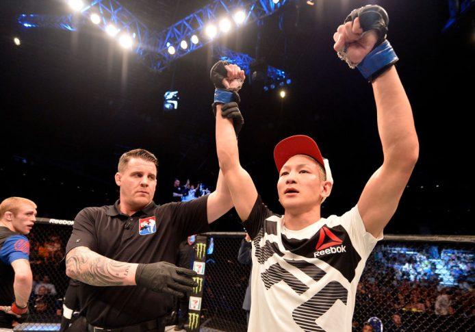 UFCファイトナイト・シンガポール:ジャスティン・スコギンズ vs. 佐々木憂流迦【シンガポール・カラン/2017年6月17日(Photo by Brandon Magnus/Zuffa LLC/Zuffa LLC via Getty Images)】