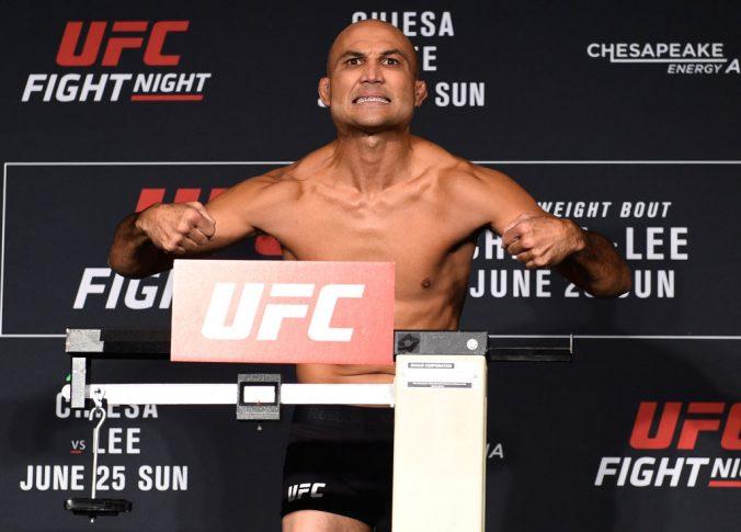 UFCファイトナイト・オクラホマシティ:公式計量に登場したB.J.ペン【オクラホマ州・アメリカ/2017年6月24日(Photo by Brandon Magnus/Zuffa LLC/Zuffa LLC via Getty Images)】