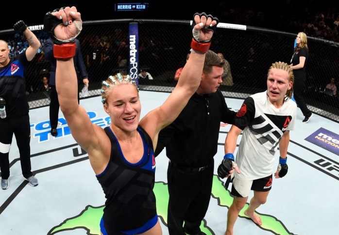 UFCファイトナイト・オクラホマシティ:フェリス・ヘリッグ vs. ジャスティン・キッシュ【オクラホマ州・アメリカ/2017年6月25日(Photo by Brandon Magnus/Zuffa LLC/Zuffa LLC via Getty Images)】