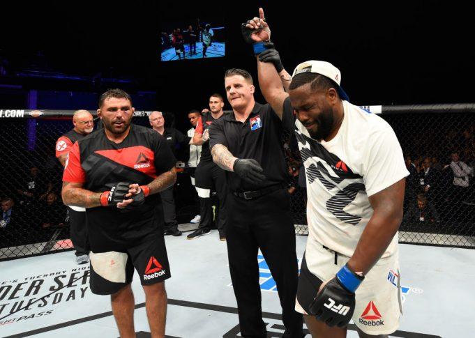 UFCファイトナイト・グラスゴー:ジェームス・マルヘロン vs. ジャスティン・ウィリス【スコットランド・グラスゴー/2017年7月16日(Photo by Josh Hedges/Zuffa LLC/Zuffa LLC via Getty Images)】