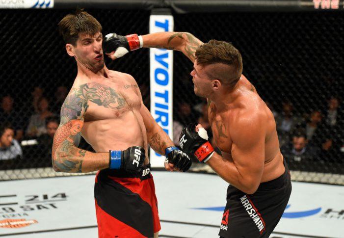 UFCファイトナイト・グラスゴー:ジャック・マーシュマン vs. ライアン・ジェーンズ【スコットランド・グラスゴー/2017年7月16日(Photo by Josh Hedges/Zuffa LLC/Zuffa LLC via Getty Images)】