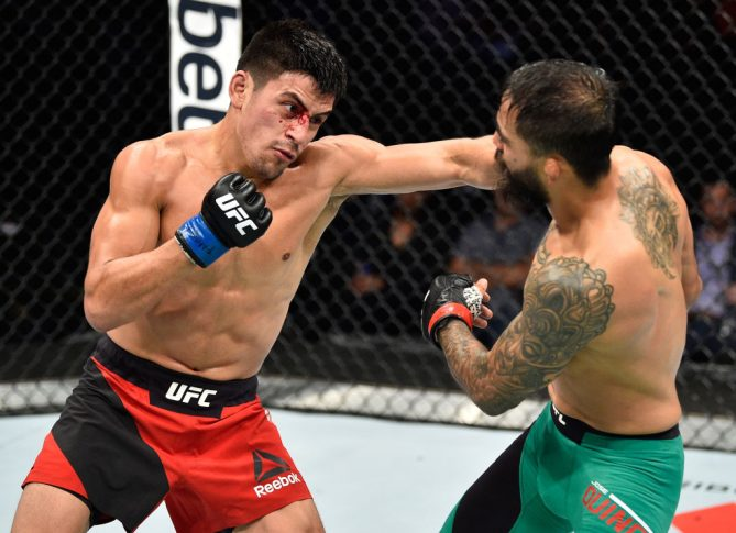 UFCファイトナイト・メキシコシティ:ホセ・キノネス vs. ディエゴ・リバス【メキシコ・メキシコシティ/2017年8月5日(Photo by Jeff Bottari/Zuffa LLC/Zuffa LLC via Getty Images)】