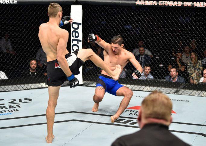 UFCファイトナイト・メキシコシティ:アラン・ジョバーン vs. ニコ・プライス【メキシコ・メキシコシティ/2017年8月5日(Photo by Jeff Bottari/Zuffa LLC/Zuffa LLC via Getty Images)】