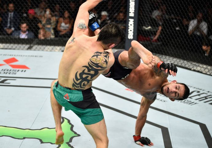 UFCファイトナイト・メキシコシティ:セルジオ・ペティス vs. ブランドン・モレノ【メキシコ・メキシコシティ/2017年8月5日(Photo by Jeff Bottari/Zuffa LLC/Zuffa LLC via Getty Images)】
