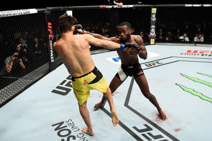UFCファイトナイト・ロッテルダム:レオン・エドワーズ vs. ブライアン・バーバリーナ【オランダ・ロッテルダム/2017年9月2日(Photo by Josh Hedges/Zuffa LLC/Zuffa LLC via Getty Images)】