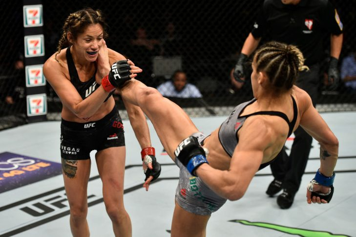 UFC 216:パール・ゴンザレス vs. ポリアナ・ボテーリョ【アメリカ・ネバダ州ラスベガス/2017年10月7日(Photo by Jeff Bottari/Zuffa LLC/Zuffa LLC via Getty Images)】