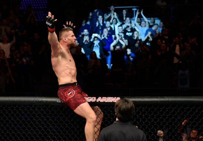 UFCファイトナイト・ポーランド:ヤン・ブラホビッチ vs. デビン・クラーク【ポーランド・グダニスク/2017年10月21日(Photo by Jeff Bottari/Zuffa LLC/Zuffa LLC via Getty Images)】