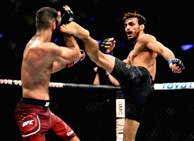 UFC 217:アイマン・ザハビ vs. リカルド・ラモス【アメリカ・ニューヨーク州ニューヨーク/2017年11月4日(Photo by Jeff Bottari/Zuffa LLC/Zuffa LLC via Getty Images)】