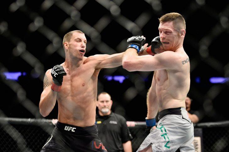 UFC 217:ジェームズ・ビック vs. ジョー・ダフィー【アメリカ・ニューヨーク州ニューヨーク/2017年11月4日(Photo by Jeff Bottari/Zuffa LLC/Zuffa LLC via Getty Images)】