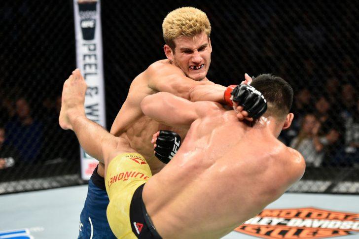 UFCファイトナイト・ノーフォーク:セージ・ノースカット vs. ミチェル・キニョネス【アメリカ・バージニア州ノーフォーク/2017年11月11日(Photo by Brandon Magnus/Zuffa LLC/Zuffa LLC via Getty Images)】