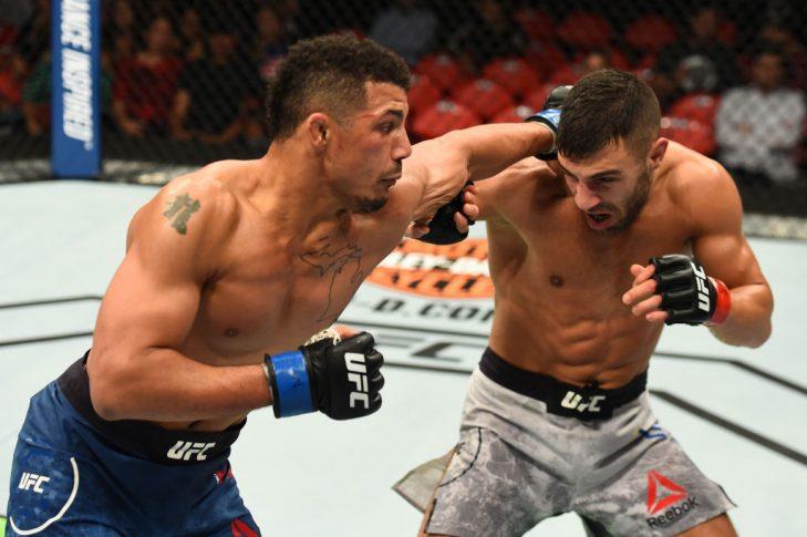 UFC 218:ダビッド・テイムル vs. ドラッカー・クロース【アメリカ・ミシガン州デトロイト/2017年12月2日(Photo by Josh Hedges/Zuffa LLC/Zuffa LLC via Getty Images)】