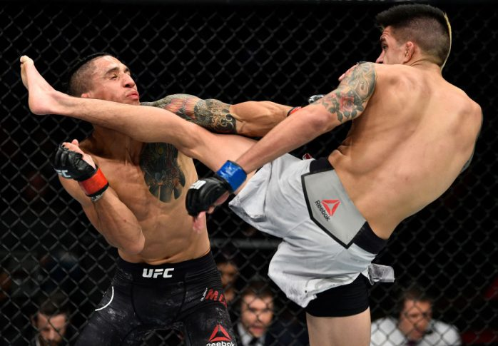 UFCファイトナイト・フレズノ:アルバート・モラレス vs. ベニート・ロペス【カリフォルニア州フレズノ・アメリカ/2017年12月9日(Photo by Jeff Bottari/Zuffa LLC/Zuffa LLC via Getty Images)】