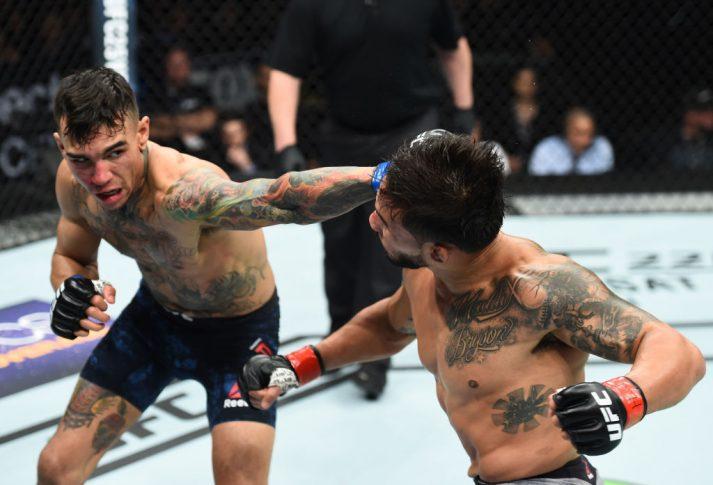 UFCファイトナイト・シャーロット:デニス・バミューデス vs. アンドレ・フィリ【アメリカ・ノースカロライナ州シャーロット/2018年1月27日(Photo by Josh Hedges/Zuffa LLC/Zuffa LLC via Getty Images)】