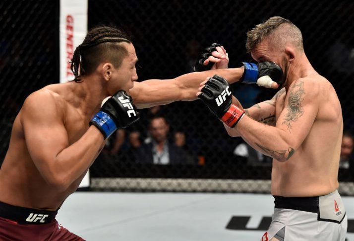 UFC 221:ダミアン・ブラウン vs. キム・ドンヒョン【オーストラリア・パース/2018年2月11日(Photo by Jeff Bottari/Zuffa LLC/Zuffa LLC via Getty Images)】