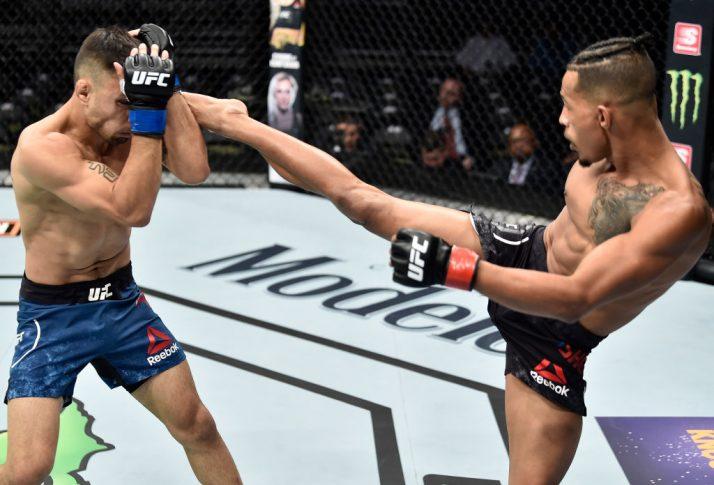 UFCファイトナイト・オーランド:エリック・シェルトン vs. アレックス・ペレス【アメリカ・フロリダ州オーランド/2018年2月24日(Photo by Jeff Bottari/Zuffa LLC/Zuffa LLC via Getty Images)】