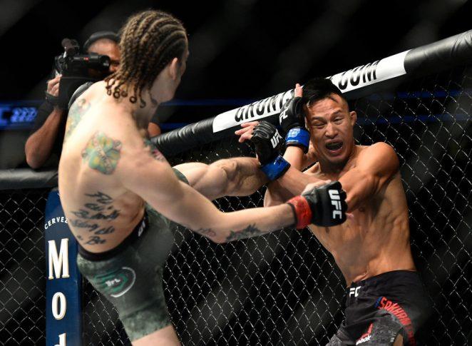 UFC 222:ショーン・オマリー vs. アンドレ・スーカムタス【アメリカ・ネバダ州ラスベガス/2018年3月3日(Photo by Brandon Magnus/Zuffa LLC/Zuffa LLC via Getty Images)】