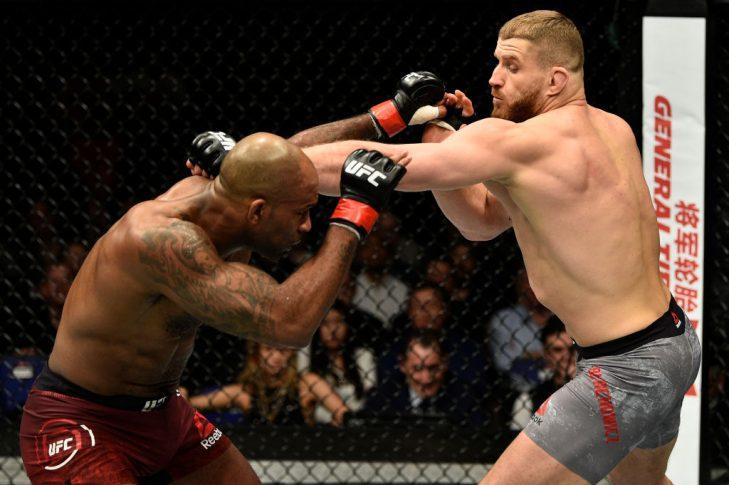 UFCファイトナイト・ロンドン:ジミ・マヌワ vs. ヤン・ブラホビッチ【イギリス・ロンドン/2018年3月17日(Photo by Brandon Magnus/Zuffa LLC/Zuffa LLC via Getty Images)】