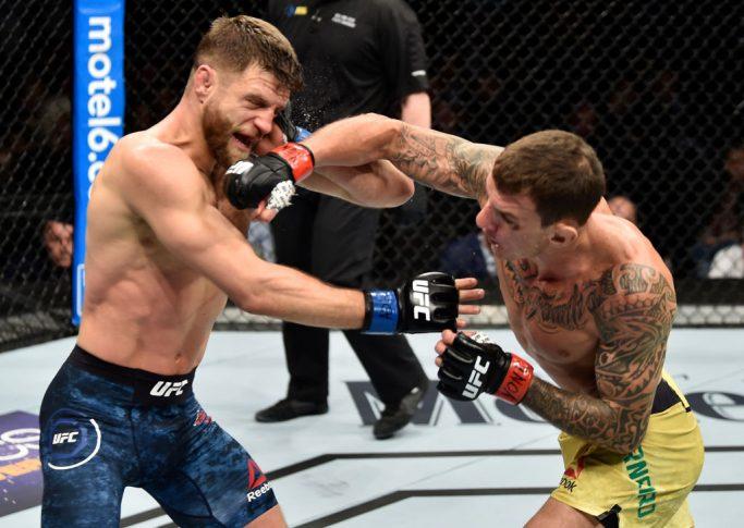 UFC 223:ヘナート・モイカノ vs. カルヴィン・ケーター【アメリカ・ニューヨーク州ブルックリン/2018年4月7日(Photo by Jeff Bottari/Zuffa LLC/Zuffa LLC via Getty Images)】