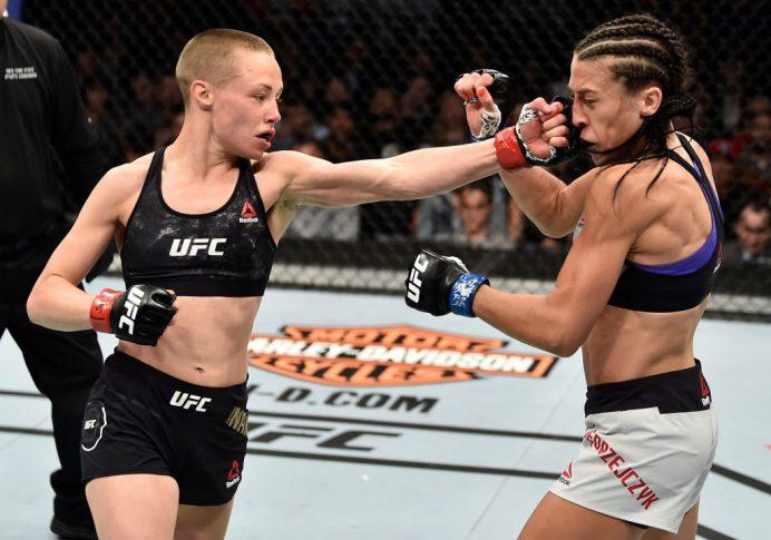 UFC 223:ローズ・ナマユナス vs. ヨアンナ・イェンドジェイチェク【アメリカ・ニューヨーク州ブルックリン/2018年4月7日(Photo by Jeff Bottari/Zuffa LLC/Zuffa LLC via Getty Images)】