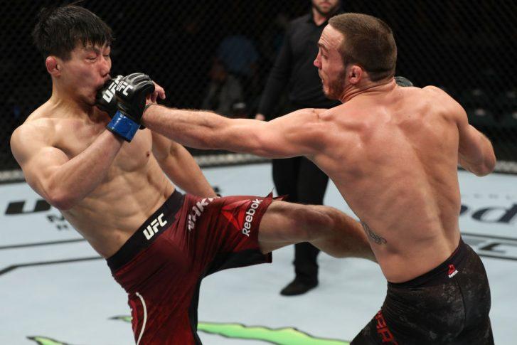 UFCファイトナイト・アトランティックシティ:トニー・マーティン vs. 中村K太郎【アメリカ・ニュージャージー州アトランティックシティ/2018年4月21日(Photo by Patrick Smith/Zuffa LLC/Zuffa LLC via Getty Images)】