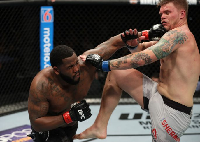 UFCファイトナイト・アトランティックシティ:ジャスティン・ウィリス vs. チェイス・シャーマン【アメリカ・ニュージャージー州アトランティックシティ/2018年4月21日(Photo by Patrick Smith/Zuffa LLC/Zuffa LLC via Getty Images)】