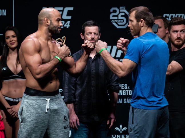 UFC 224:フェイスオフに臨んだ...