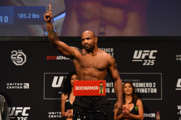 UFC 225:公式計量セレモニーに登場したヨエル・ロメロ【アメリカ・イリノイ州シカゴ/2018年6月8日(Photo by Josh Hedges/Zuffa LLC/Zuffa LLC via Getty Images)】