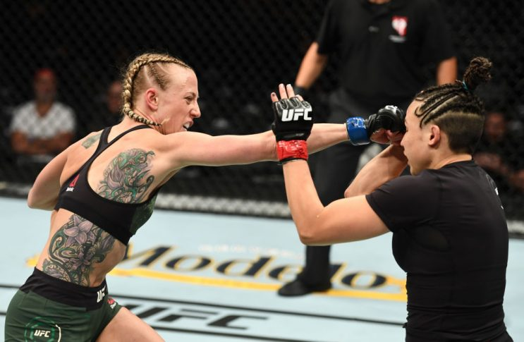 UFC 226:ジェイミー・モイル vs. エミリー・ウィットマイア【アメリカ・ネバダ州ラスベガス/2018年7月7日(Photo by Josh Hedges/Zuffa LLC/Zuffa LLC via Getty Images)】