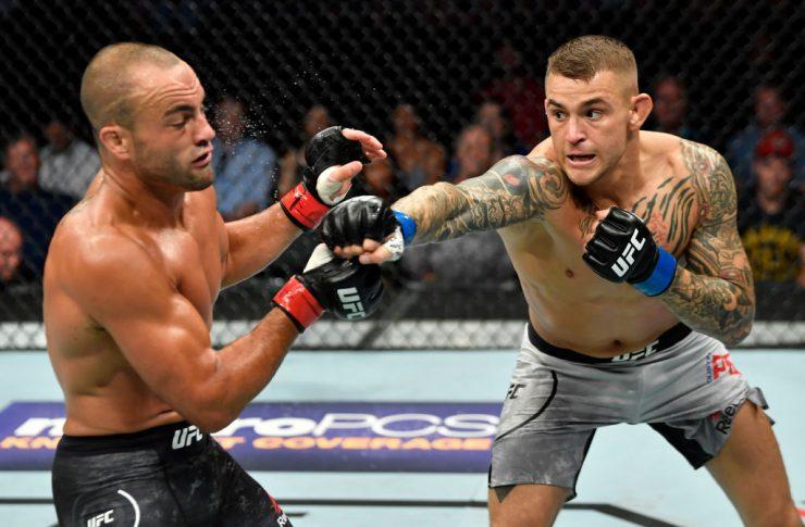 UFCファイトナイト・カルガリー:エディ・アルバレス vs. ダスティン・ポワリエ【カナダ・アルバータ州カルガリー/2018年7月28日(Photo by Jeff Bottari/Zuffa LLC/Zuffa LLC via Getty Images)】