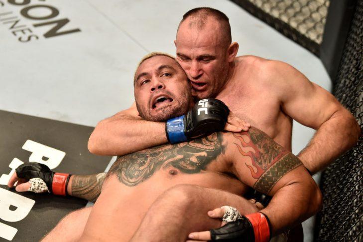 UFCファイトナイト・モスクワ:マーク・ハント vs. アレクセイ・オレイニク【ロシア・モスクワ/2018年9月15日(Photo by Jeff Bottari/Zuffa LLC/Zuffa LLC via Getty Images)】
