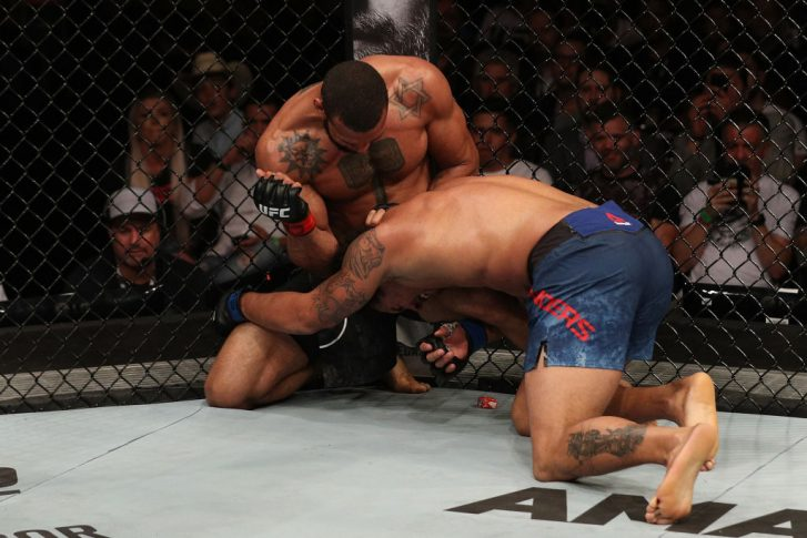 UFCファイトナイト・サンパウロ:チアゴ・サントス vs. エリク・アンダース【ブラジル・サンパウロ/2018年9月22日(Photo by Buda Mendes/Zuffa LLC/Zuffa LLC via Getty Images)】