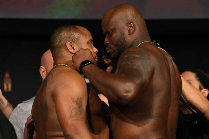 UFC 230:フェイスオフに臨んだダニエル・コーミエとデリック・ルイス【アメリカ・ニューヨーク州ニューヨーク/2018年11月2日(Photo by Jeff Bottari/Zuffa LLC/Zuffa LLC via Getty Images)】
