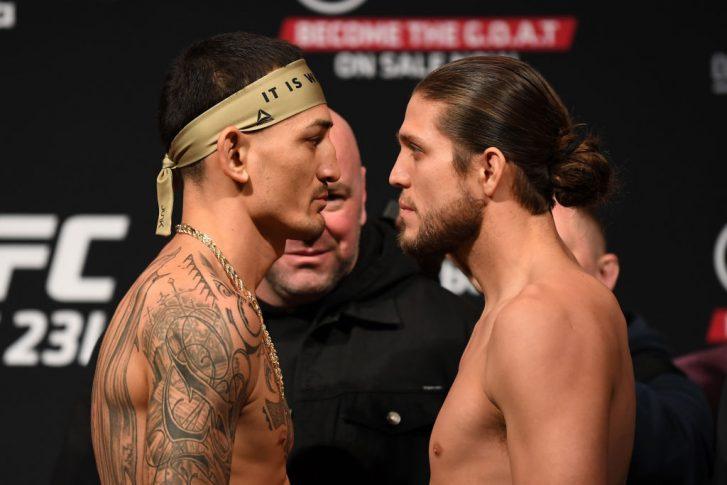 UFC 231:フェイスオフに臨んだマックス・ホロウェイとブライアン・オルテガ【カナダ・オンタリオ州トロント/2018年12月7日(Photo by Josh Hedges/Zuffa LLC/Zuffa LLC via Getty Images)】