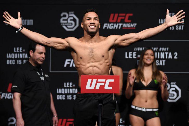 UFCファイトナイト・ミルウォーキー:公式計量セレモニーに登場したケビン・リー【アメリカ・ウィスコンシン州ミルウォーキー/2018年12月14日(Photo by Jeff Bottari/Zuffa LLC/Zuffa LLC via Getty Images)】