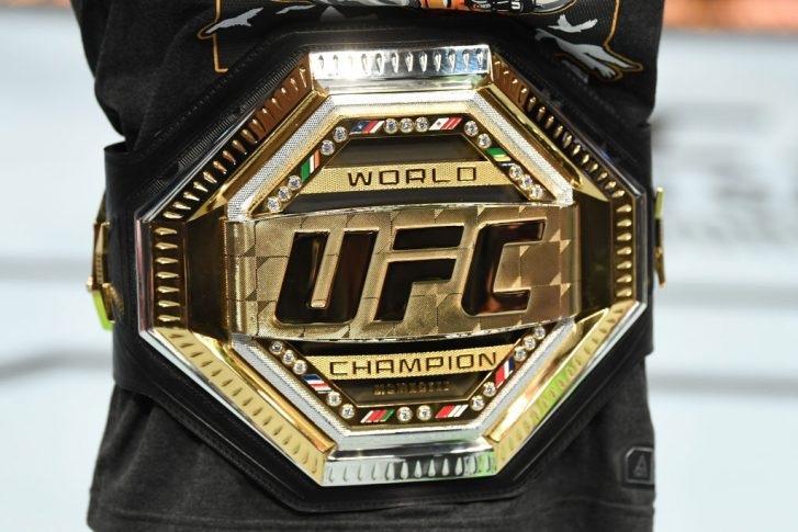 UFCファイトナイト・ブルックリン:チャンピオンベルト【アメリカ・ニューヨーク州ブルックリン/2019年1月19日(Photo by Josh Hedges/Zuffa LLC/Zuffa LLC via Getty Images)】