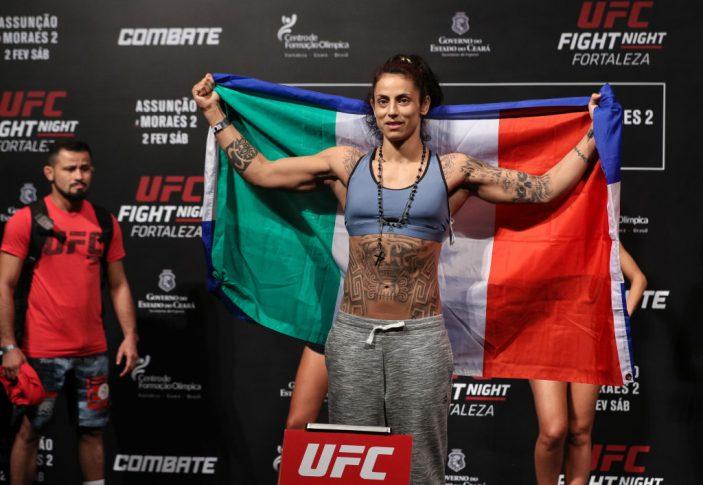 UFCファイトナイト・フォルタレザ:公式計量セレモニーに登場したマーラ・ロメロ・ボレラ【ブラジル・フォルタレザ/2019年2月1日(Photo by Buda Mendes/Zuffa LLC/Zuffa LLC via Getty Images)】