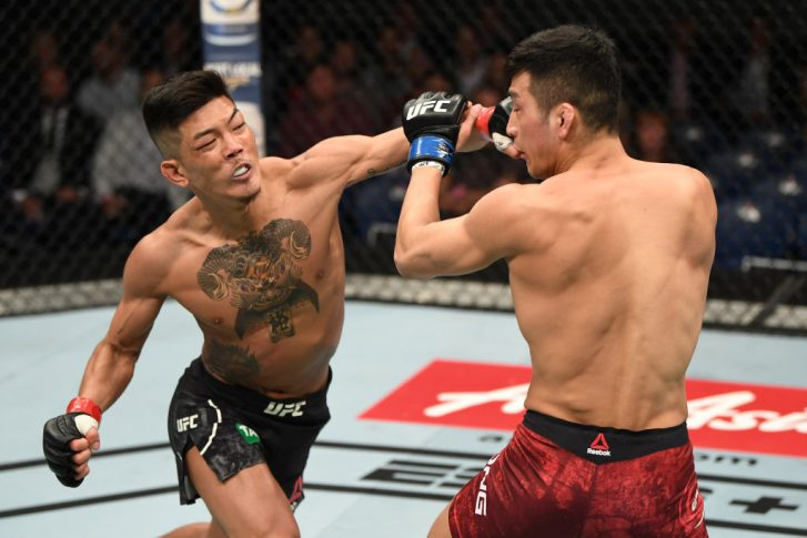 "UFC 234:石原""夜叉坊""暉仁 vs. カン・ギョンホ【オーストラリア・メルボルン/2019年2月10日(Photo by Jeff Bottari/Zuffa LLC/Zuffa LLC via Getty Images)】"