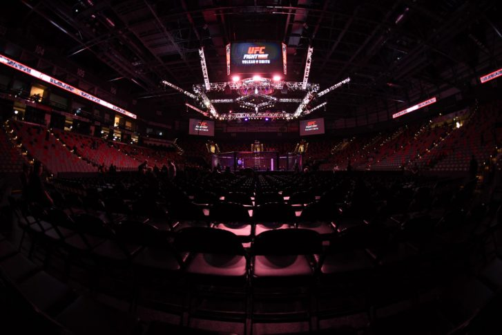 MONCTON, NB - OCTOBER 27:  A general view of the Octagon prior to the UFC Fight Night event inside Avenir Centre on October 27, 2018 in Moncton, New Brunswick, Canada. (Photo by Jeff Bottari/Zuffa LLC/Zuffa LLC via Getty Images)