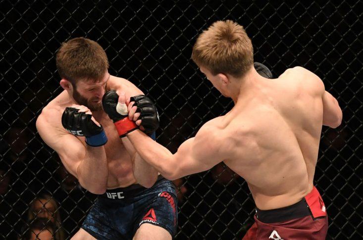 UFCファイトナイト・ロンドン:アーノルド・アレン vs. ジョーダン・リナルディ【イギリス・ロンドン/2019年3月16日(Photo by Jeff Bottari/Zuffa LLC/Zuffa LLC via Getty Images)】