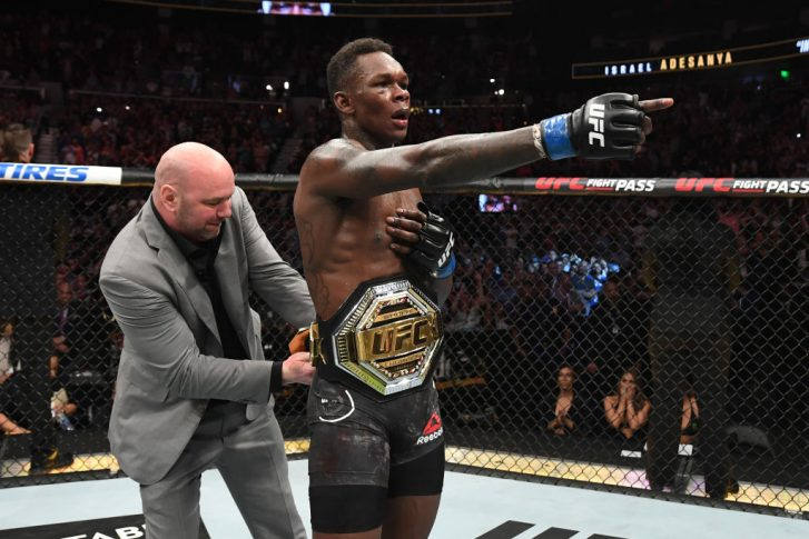 UFC 236:ケルヴィン・ガステラム vs. イズラエル・アデサニヤ【アメリカ・ジョージア州アトランタ/2019年4月13日(Photo by Josh Hedges/Zuffa LLC/Zuffa LLC via Getty Images)】
