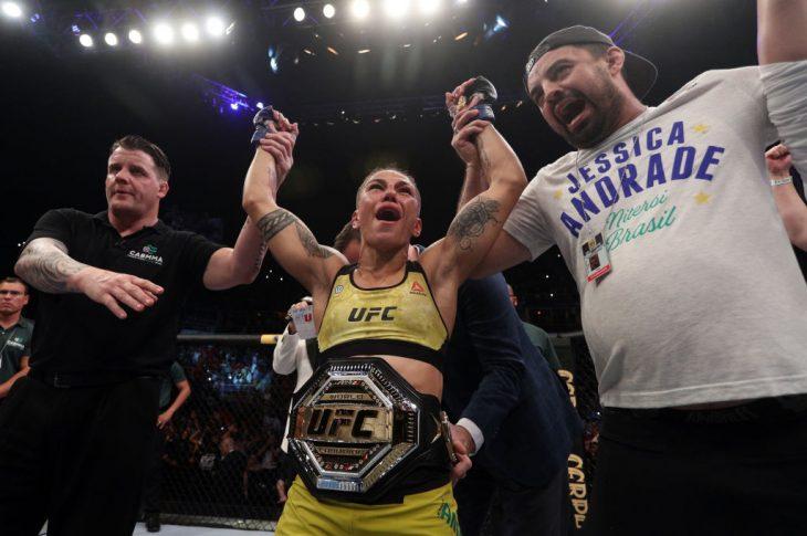 UFC 237:ローズ・ナマユナス vs. ジェシカ・アンドラージ【ブラジル バーハ・ダ・チジュカ/2019年5月11日(Photo by Buda Mendes/Zuffa LLC/Zuffa LLC via Getty Images)】