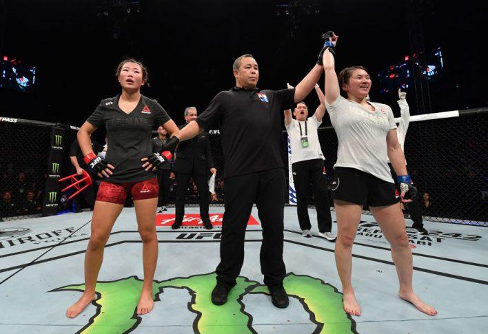 UFCファイトナイト深圳:ウー・ヤナン vs. 魅津希【中華人民共和国・広東省深圳市/2019年8月31日(Photo by Brandon Magnus/Zuffa LLC/Zuffa LLC)】
