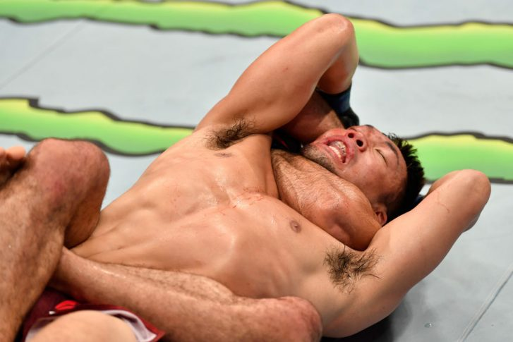 UFC 242:ベラル・ムハマッド vs. 佐藤天【アラブ首長国連邦・アブダビ/2019年9月7日(Photo by Jeff Bottari/Zuffa LLC/Zuffa LLC via Getty Images)】