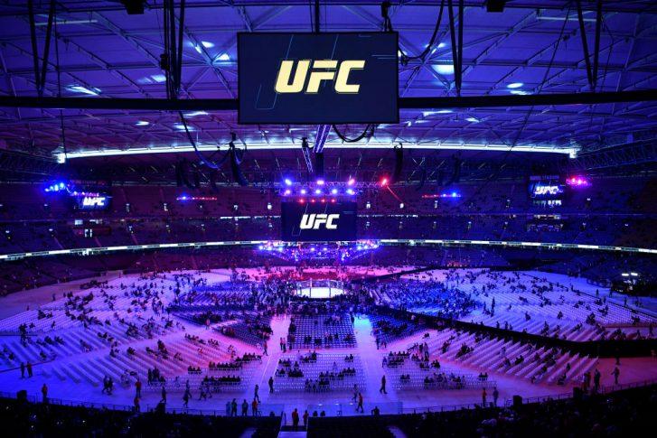 UFC 243:オクタゴン【オーストラリア・メルボルン/2019年10月6日(Photo by Jeff Bottari/Zuffa LLC/Zuffa LLC via Getty Images)】