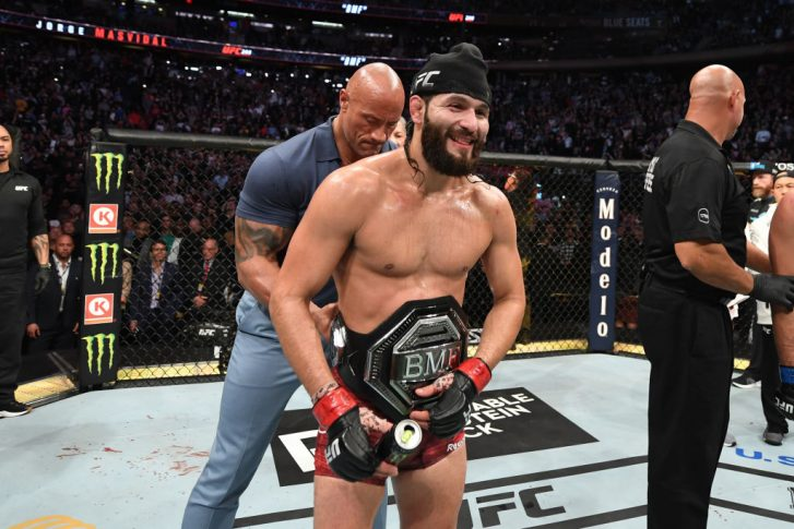 UFC 244:ホルヘ・マスヴィダル vs. ネイト・ディアス【アメリカ・ニューヨーク州ニューヨーク/2019年11月2日(Photo by Josh Hedges/Zuffa LLC via Getty Images)】