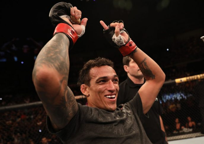 UFCファイトナイト・サンパウロ:チャールズ・オリベイラ vs. ジャレッド・ゴードン【ブラジル・サンパウロ州パライーゾ/2019年11月16日(Photo by Alexandre Schneider/Zuffa LLC via Getty Images)】