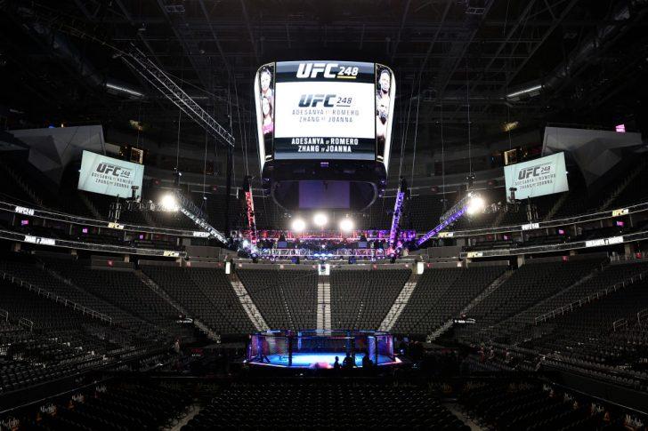 UFC 248:オクタゴン【アメリカ・ネバダ州ラスベガス/2020年3月7日(Photo by Chris Unger/Zuffa LLC)】