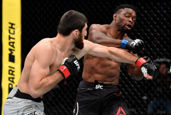 UFCファイトナイト・モスクワ:マゴメド・アンカラエフ vs. ダルチャ・ランギアムブーラ【ロシア・モスクワ/2019年11月9日(Photo by Jeff Bottari/Zuffa LLC/Zuffa LLC via Getty Images)】